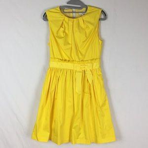 Ted Baker Alyy Yellow Waist Tie Mini Dress